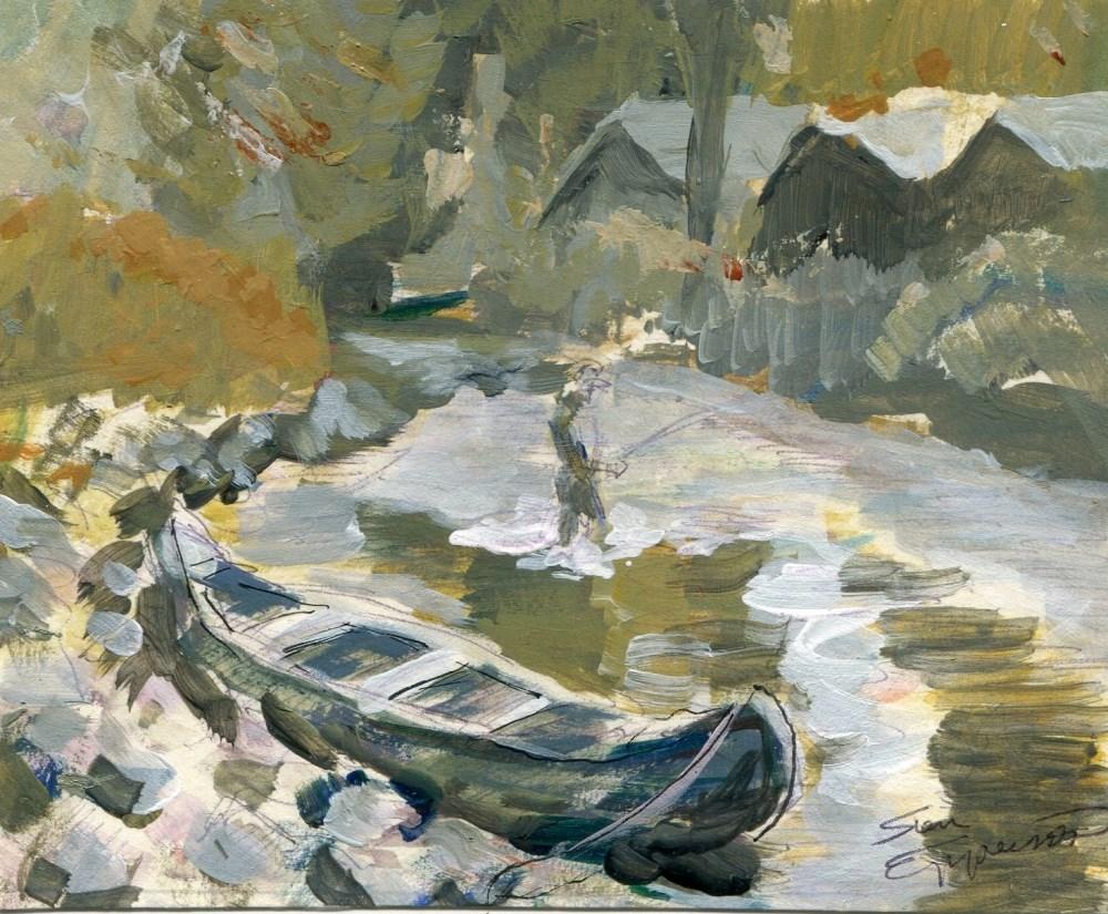 """""""Craigs Creek"""" original fine art by Stanley Epperson"""