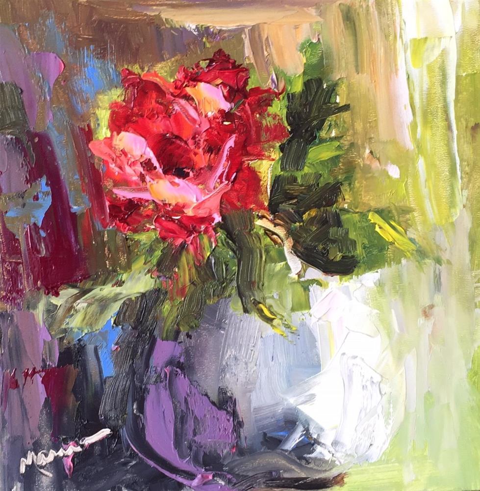 """One Happy Single Girl"" original fine art by Marcia Hodges"