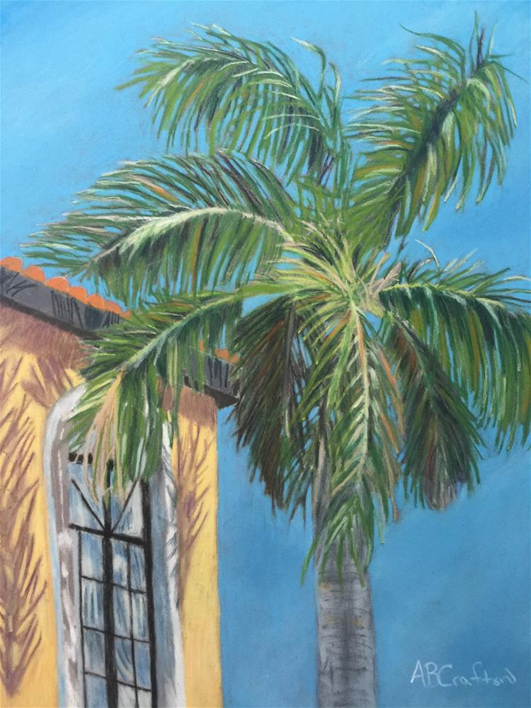 """Michaels Palm"" original fine art by Arlene Crafton"