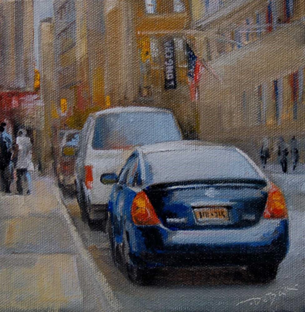"""""""Manhattan. City Challenge"""" original fine art by Mark DeBak"""