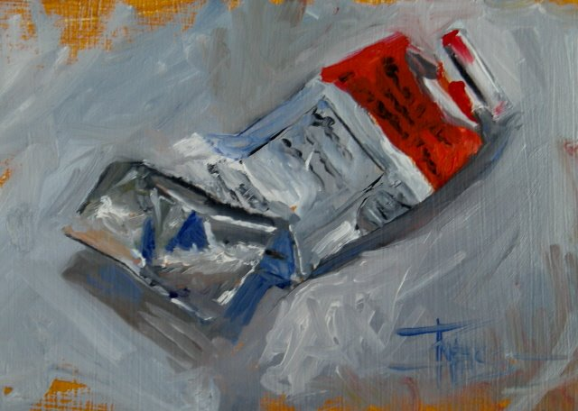 """""""Paint Tubes ,  warm up oil paintings"""" original fine art by Robin Weiss"""