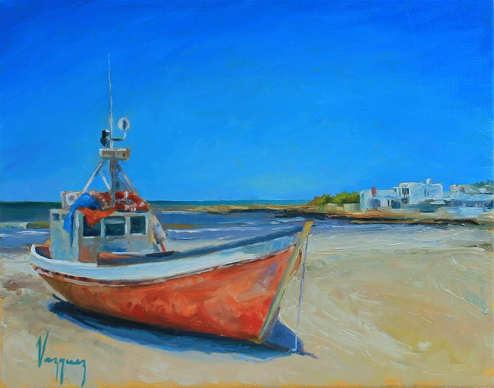 """""""On shore"""" original fine art by Marco Vazquez"""