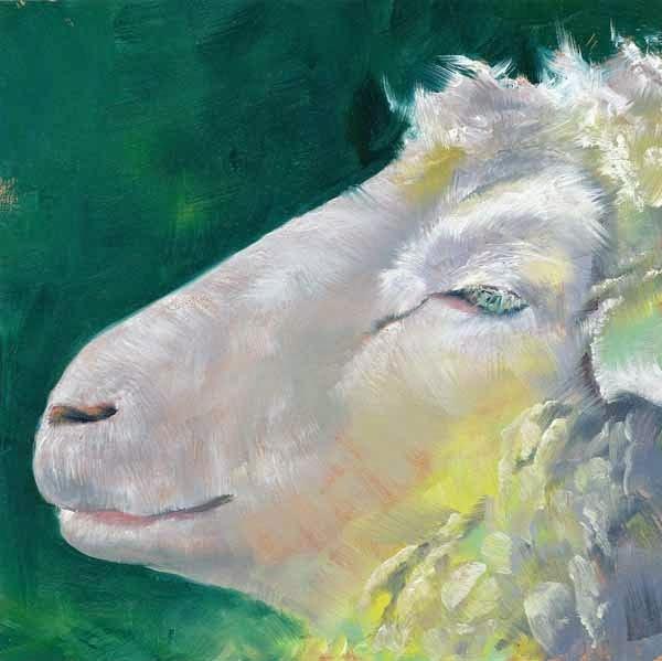 """""""Slight Smile"""" original fine art by Brenda Ferguson"""