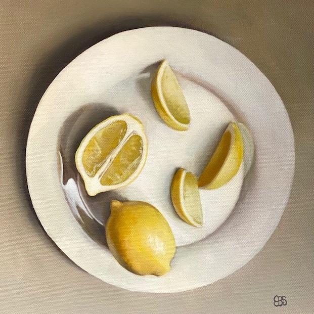 """Lemon Wedges"" original fine art by Elaine Brady Smith"
