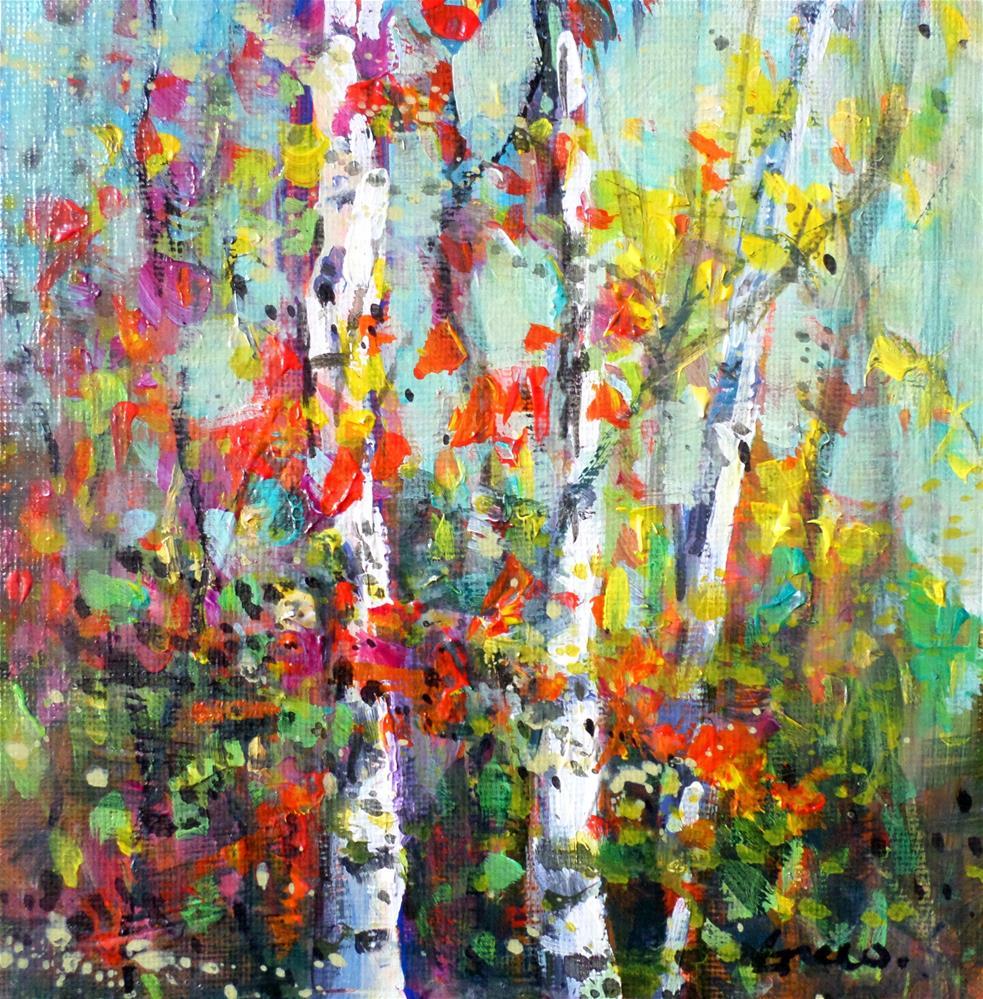 """""""the Birches 2"""" original fine art by salvatore greco"""