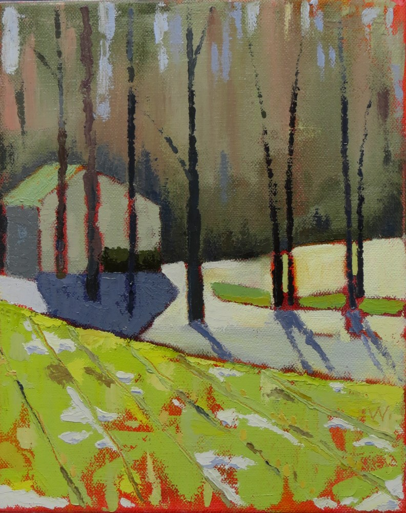 """Winter's Edge"" original fine art by Joan Wiberg"