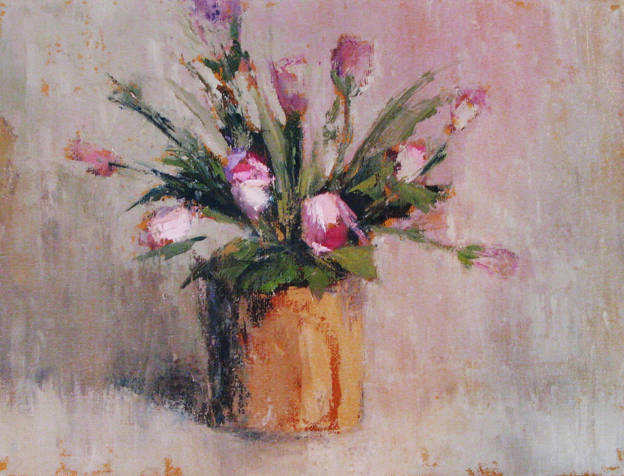 """Pink Rose Study"" original fine art by Donna Thomas"