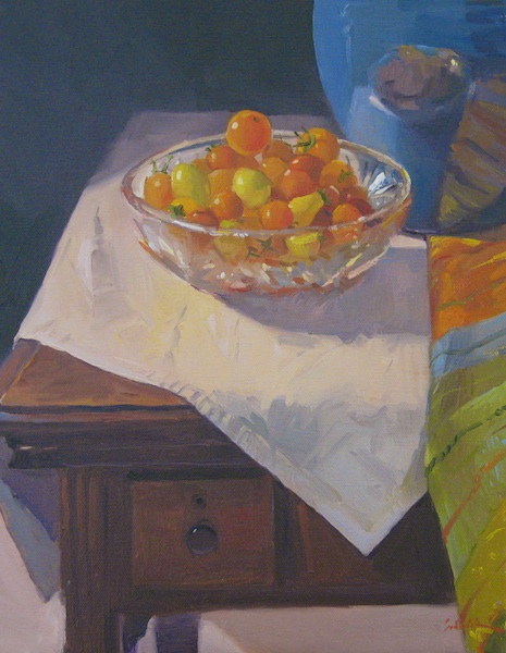 """Summer Tomatoes"" original fine art by Sarah Sedwick"