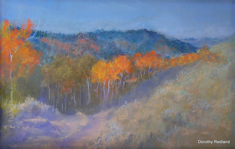 """""""The road down to second creek"""" original fine art by Dorothy Redland"""