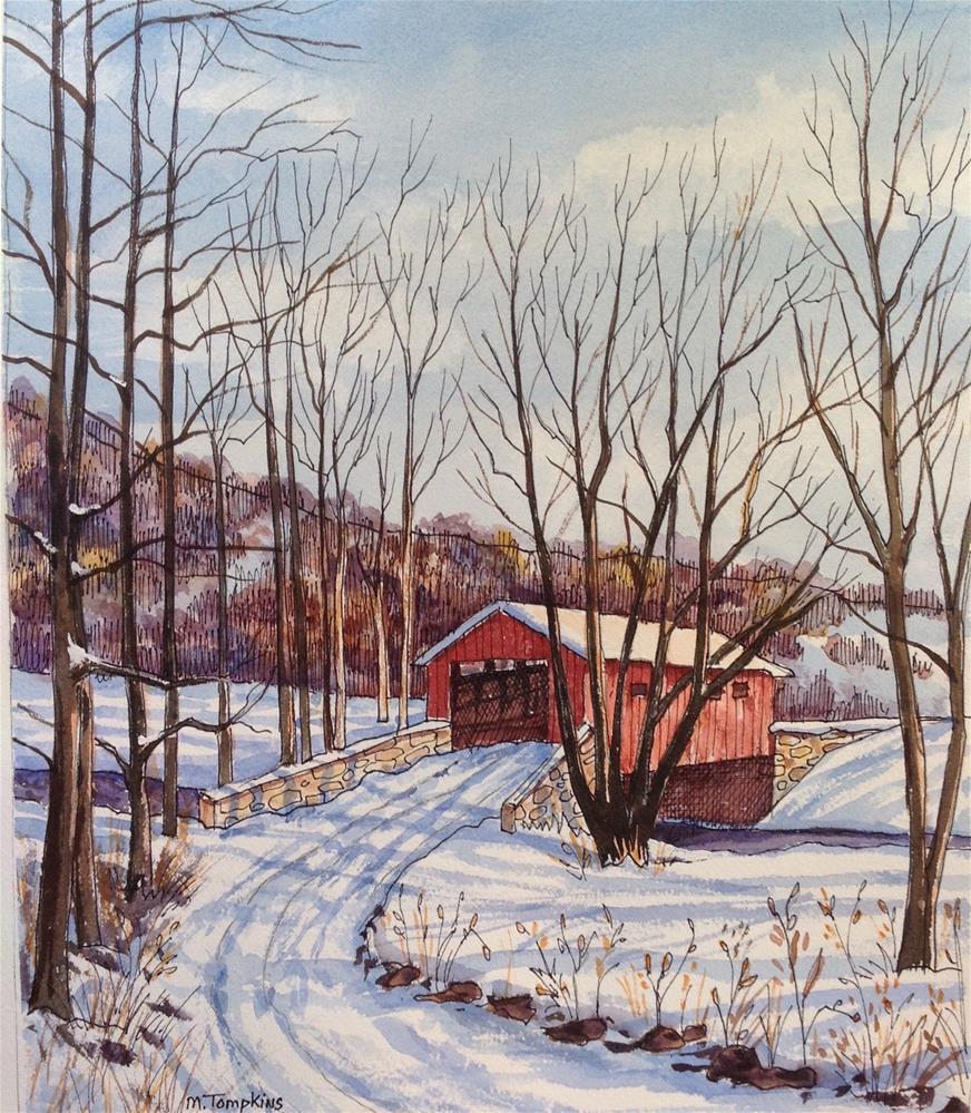 """""""Vermont"""" original fine art by Mark Tompkins"""