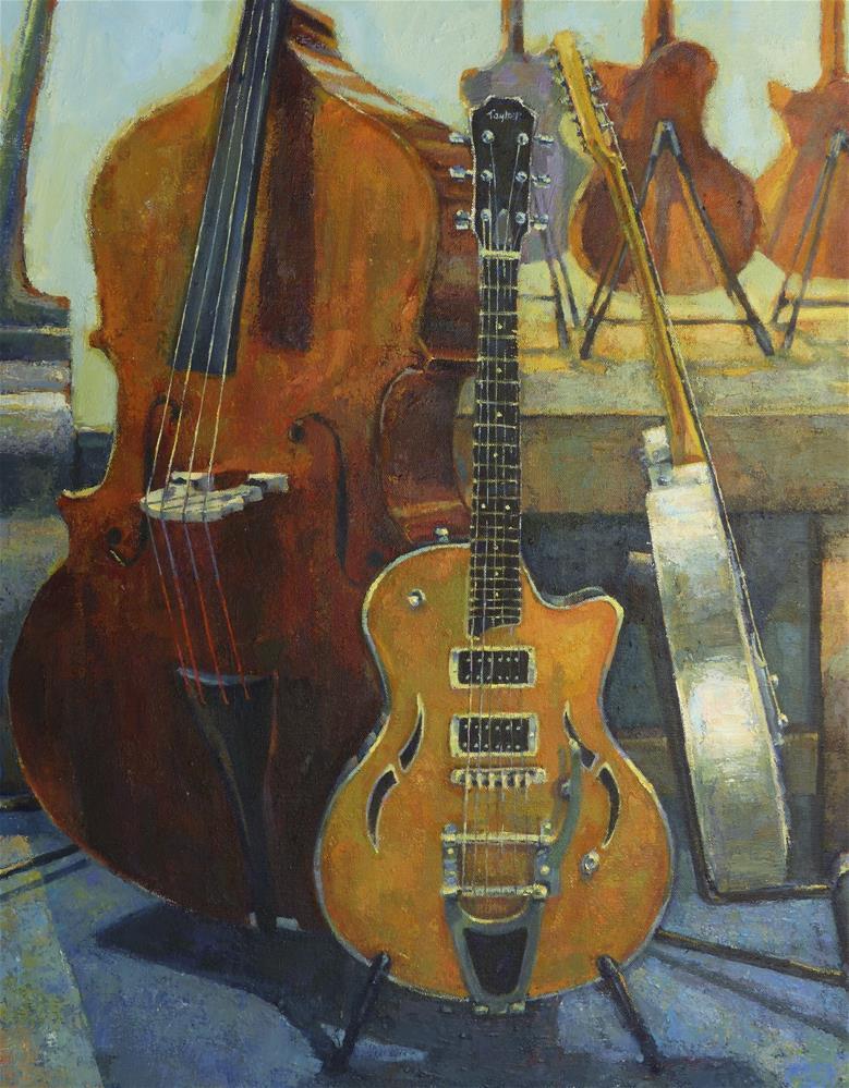 """Lead, Rhythm and Bass (2014j"" original fine art by Katya Minkina"