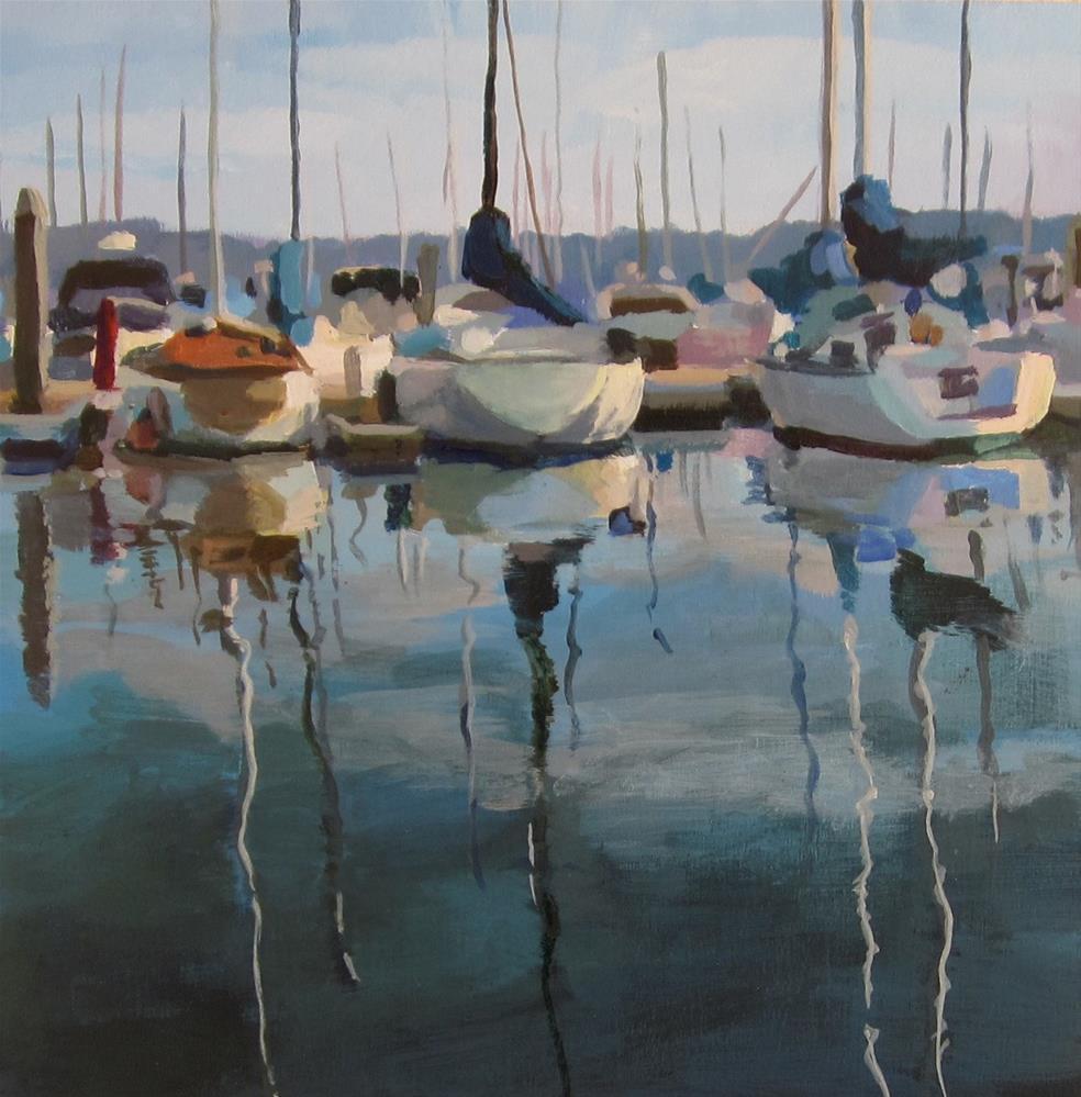 """Marina Blue"" original fine art by Kaethe Bealer"
