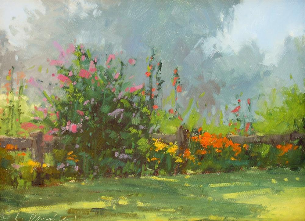 """Garden Color - Door County Plein Air"" original fine art by Laurel Daniel"