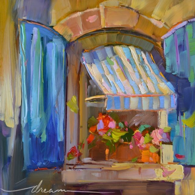"""A Window to Joy"" original fine art by Dreama Tolle Perry"