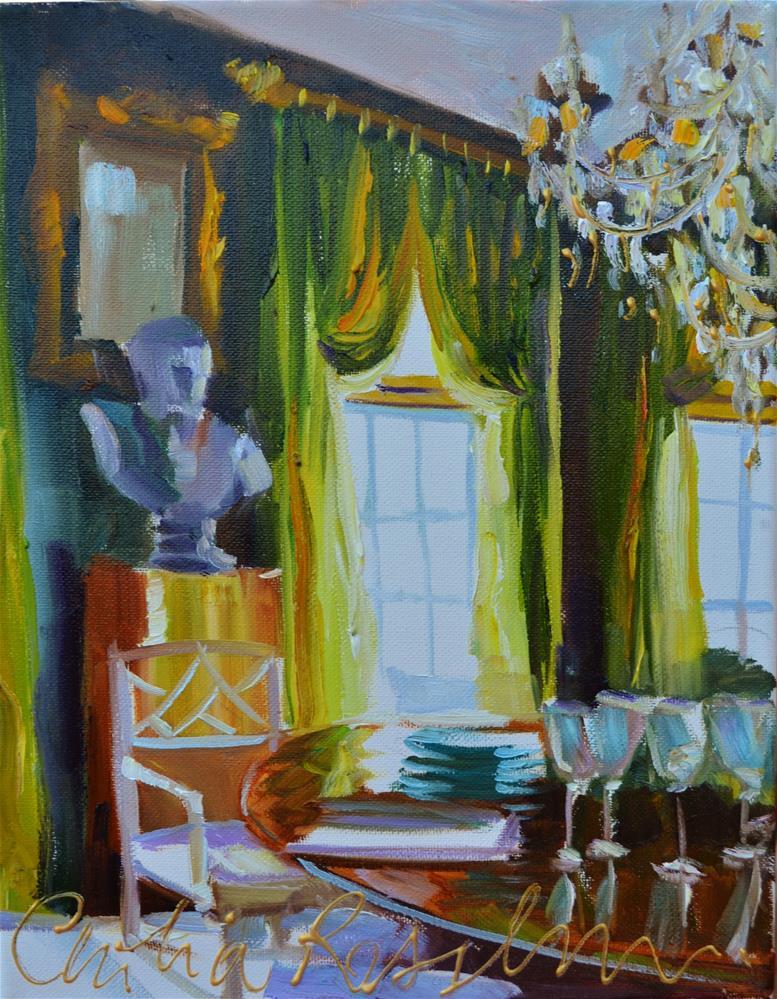 """GREEN ROOM"" original fine art by Cecilia Rosslee"