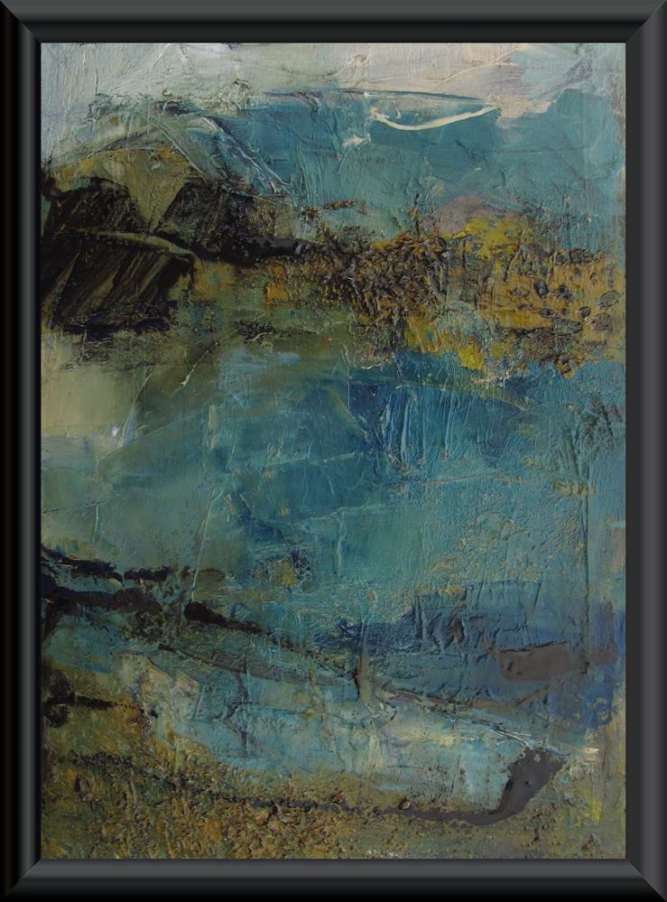 """""""BIG SUR Original ABSTRACT Art Painting OIL"""" original fine art by Colette Davis"""