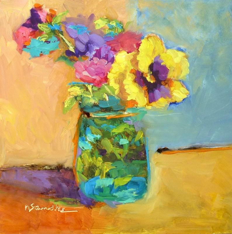 """""""Pansies 13051"""" original fine art by Nancy Standlee"""