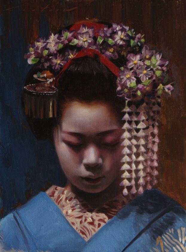 """Portrait of Komako"" original fine art by Phil Couture"