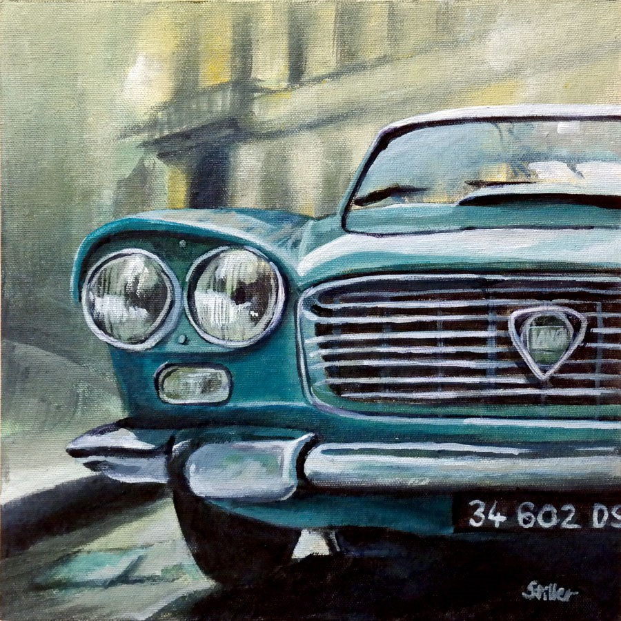 """2274 Lancia Flaminia"" original fine art by Dietmar Stiller"