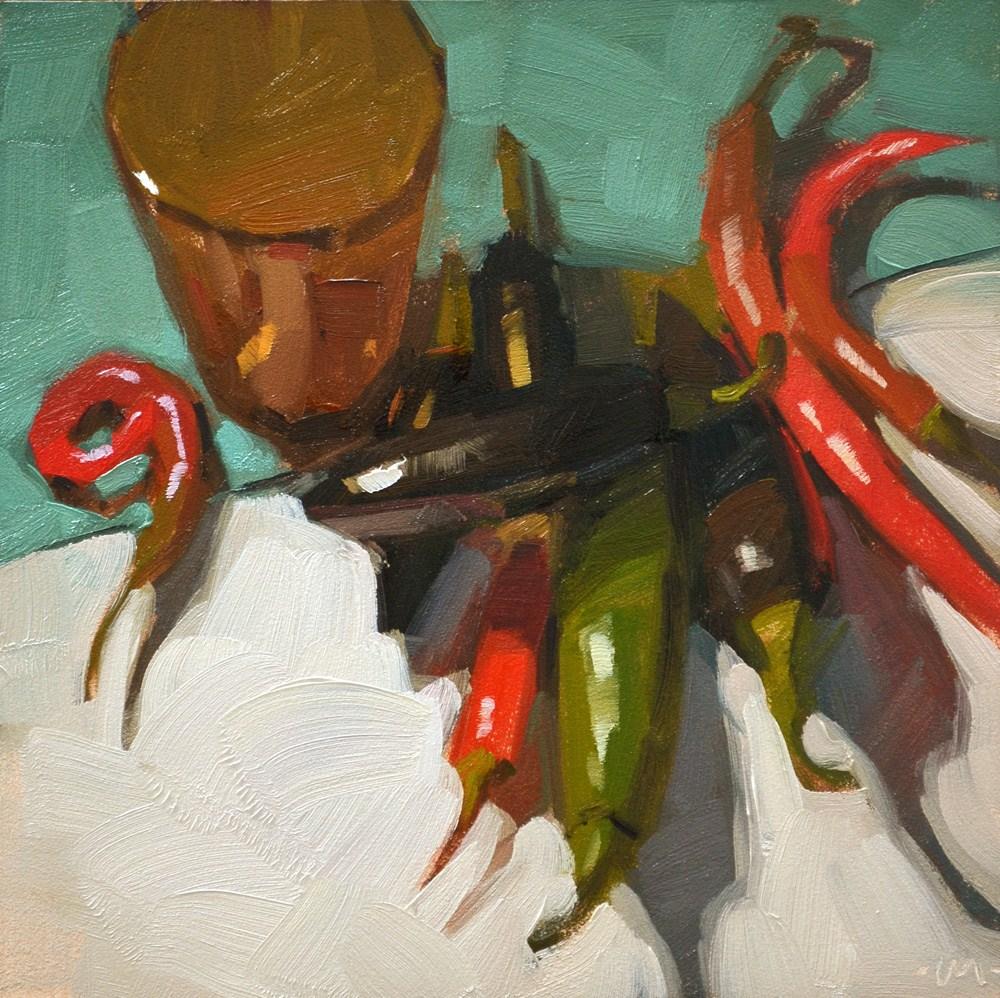 """""""Shadow Peppers"""" original fine art by Carol Marine"""