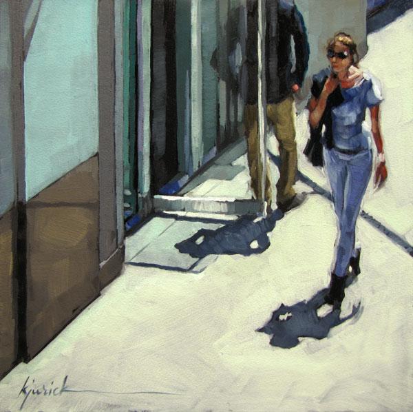 """Girl Watching"" original fine art by Karin Jurick"