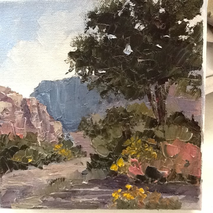 """Kane Creek Trail"" original fine art by Bonnie Griffith"