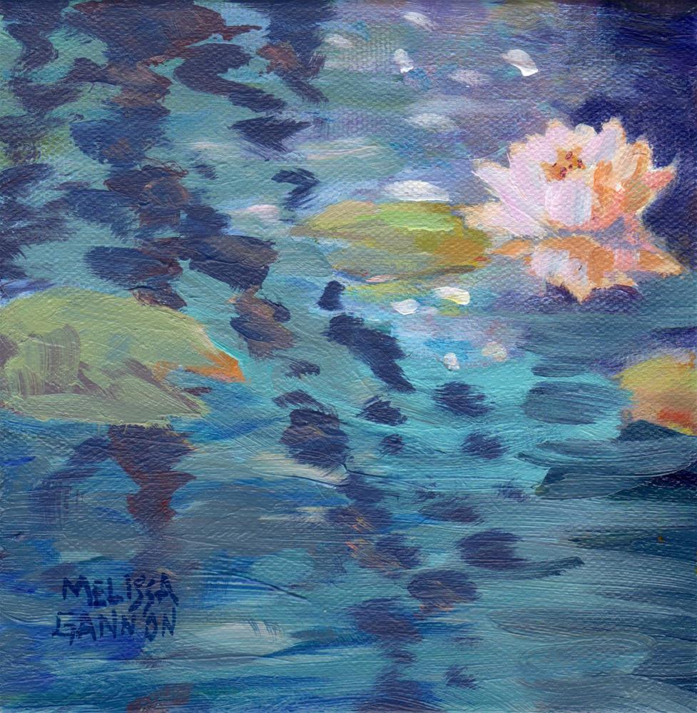 """""""Waterlily Flower"""" original fine art by Melissa Gannon"""