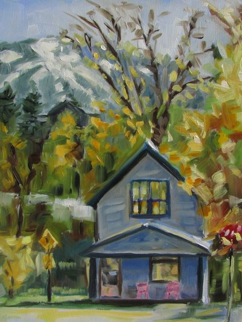 """OLD TOWN"" original fine art by Mb Warner"