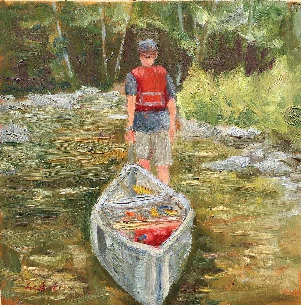 """Portage"" original fine art by Shari Goddard Shambaugh"