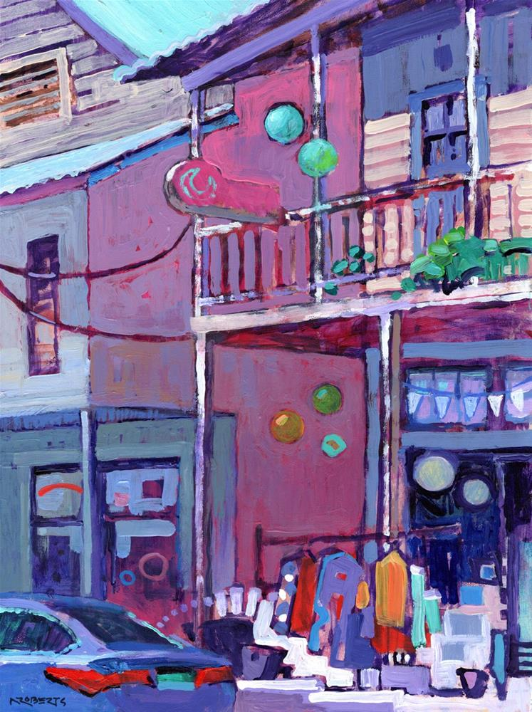 """Main Street, Locke"" original fine art by Nancy Roberts"