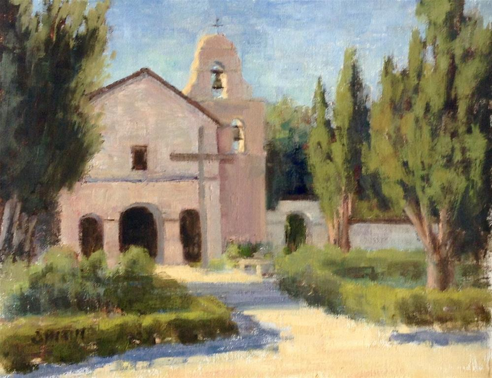 """San Juan Bautista Mission"" original fine art by Barbie Smith"