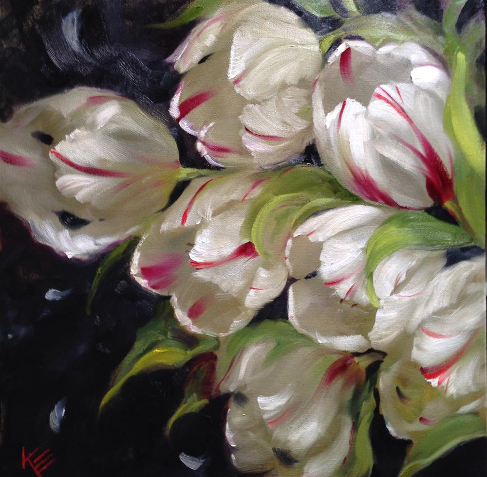 """""""Hearts Aflame on 1.5 thick gallery wrap canvas"""" original fine art by Krista Eaton"""