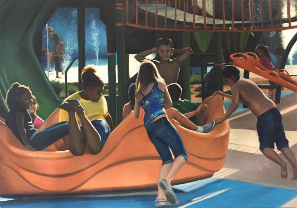 """Riverwalk"" original fine art by Cheryl Meehan"