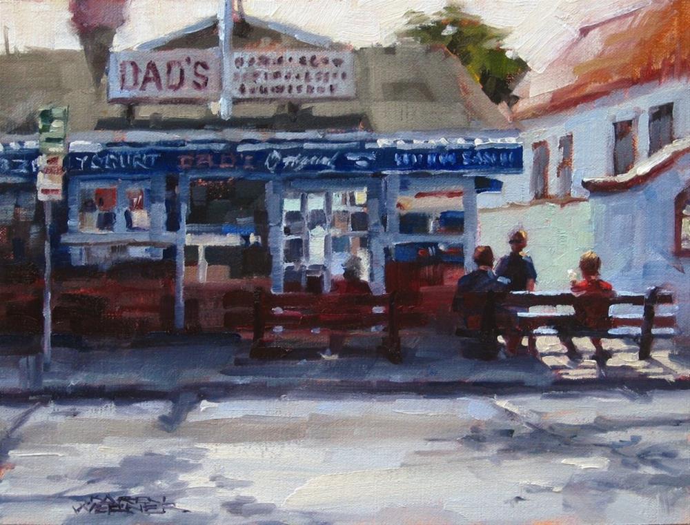 """""""Ice Cream for Breakfast"""" original fine art by Karen Werner"""