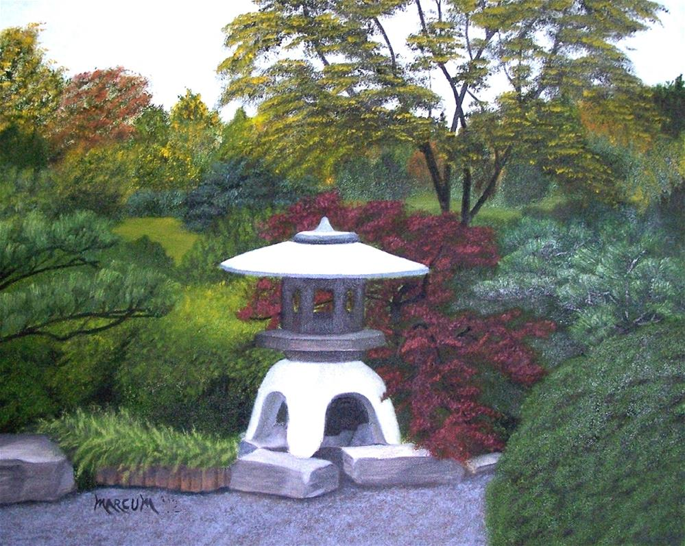 """Shaw's Japanese Garden"" original fine art by John Marcum"