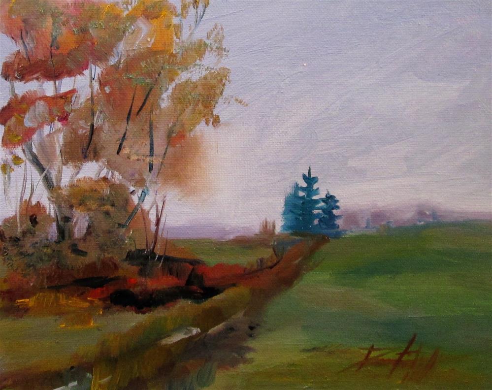 """Foggy Morning"" original fine art by Delilah Smith"