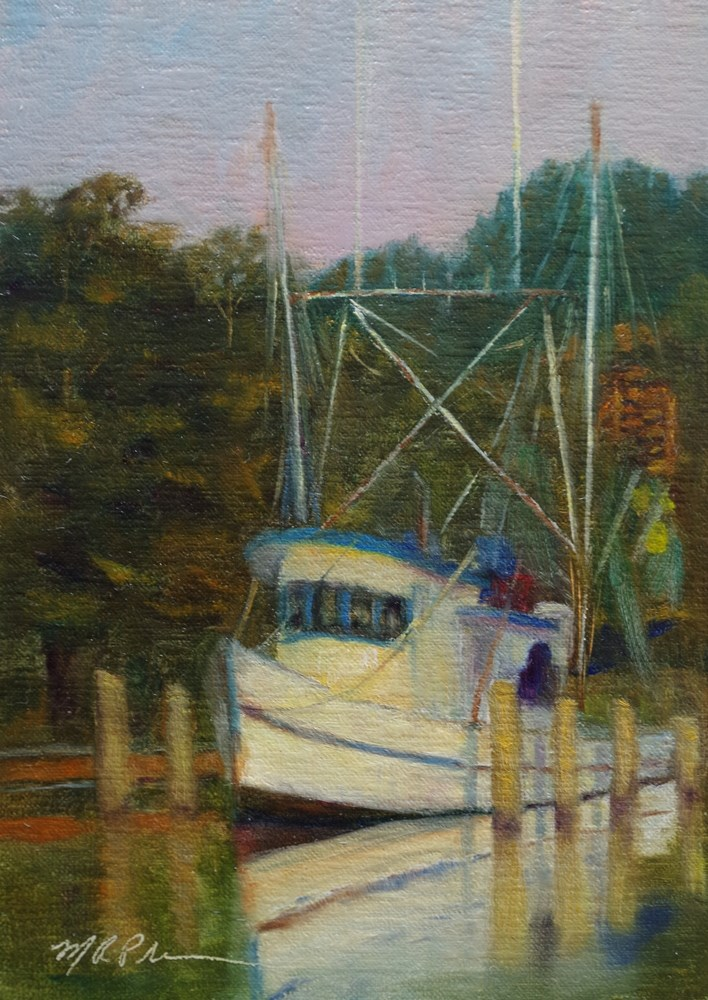 """Berthed"" original fine art by Marilyn R. Place"
