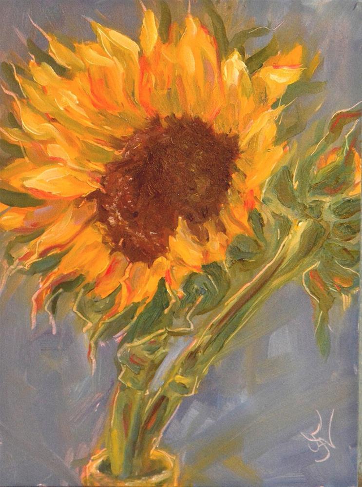 """Sunny"" original fine art by Jan Jackson"