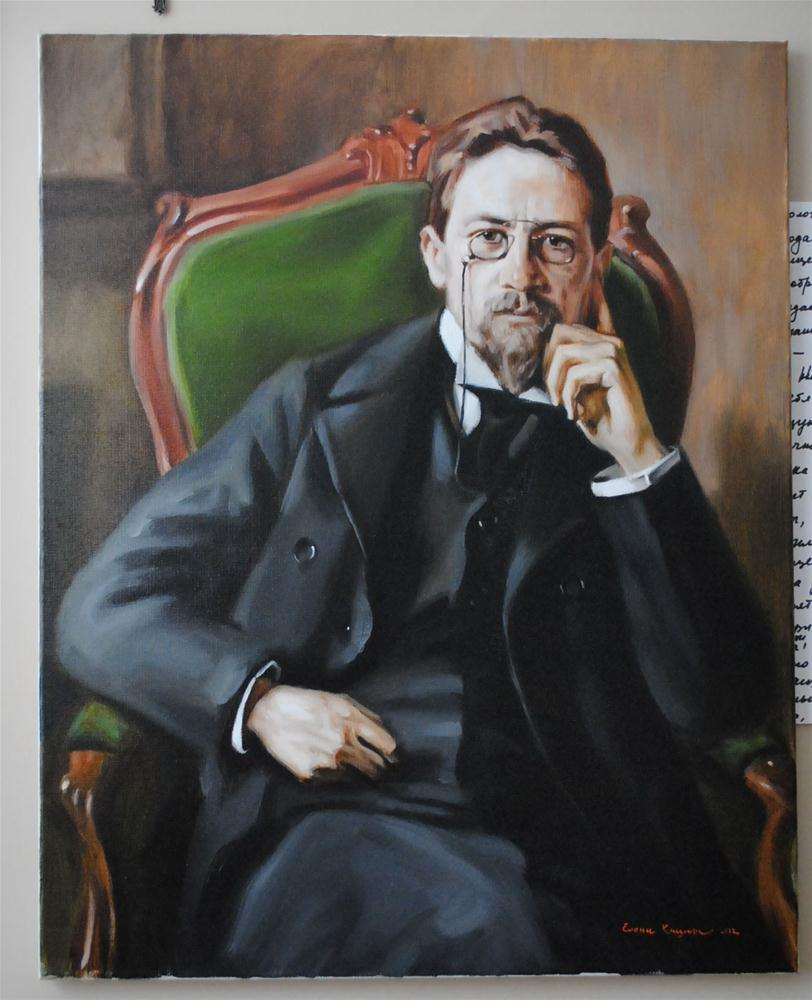 """Finished Chekhov"" original fine art by Elena Katsyura"