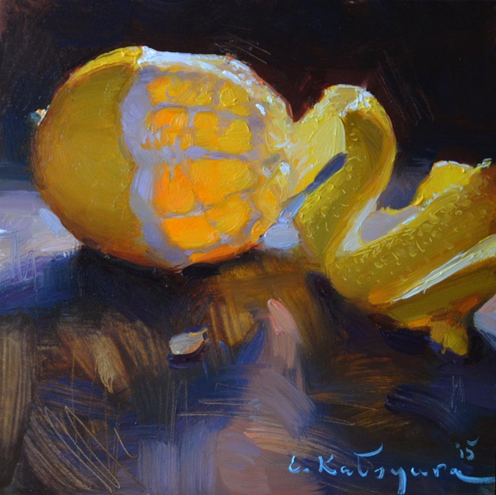 """""""Lemon Study"""" original fine art by Elena Katsyura"""