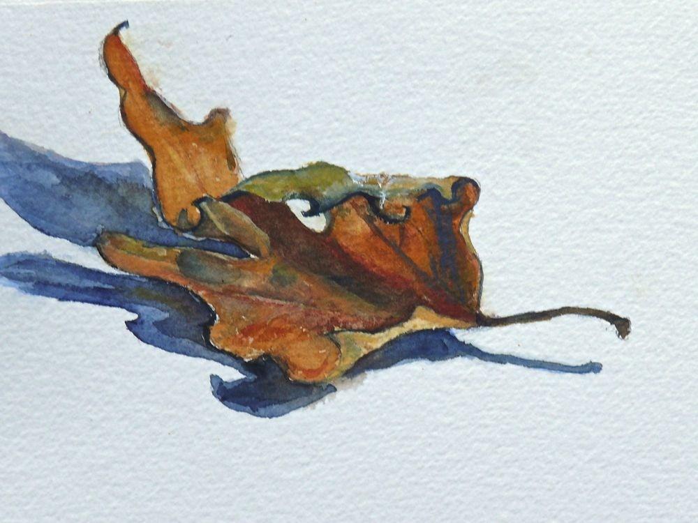 """""""555 Maple Leaf Study"""" original fine art by Darlene Young"""