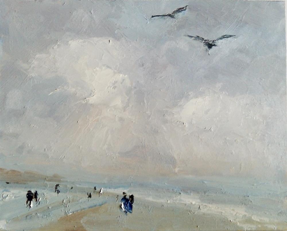 """Along the shoreline"" original fine art by Astrid Buchhammer"