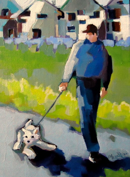 """""""Don't Even Think About It"""" original fine art by Laurie Mueller"""