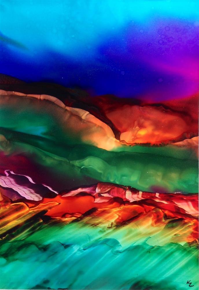 """Glow Mountain"" original fine art by Korinne Carpino"
