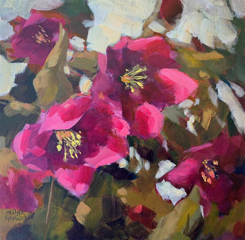 """Hellebore Adventure"" original fine art by Melissa Gannon"