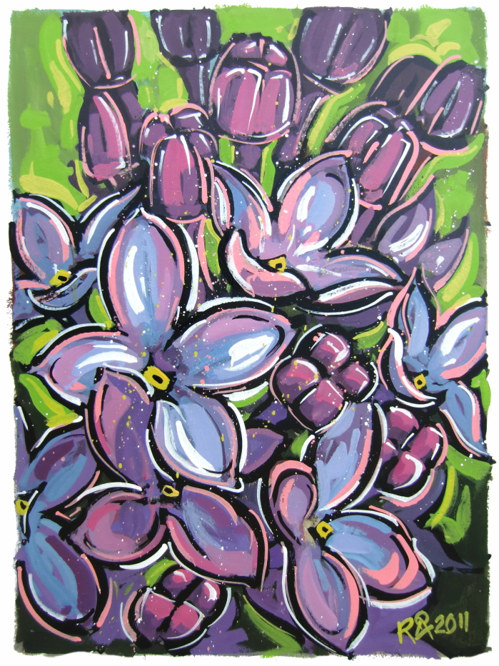 """Lilac 3"" original fine art by Roger Akesson"