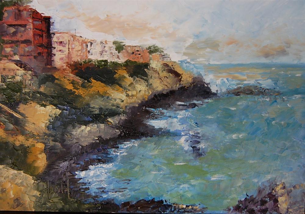 """""""Corona Del Mar"""" original fine art by Deborah Harold"""