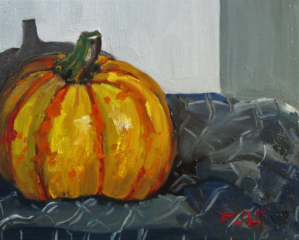 """Blaze Pumpkin"" original fine art by Delilah Smith"