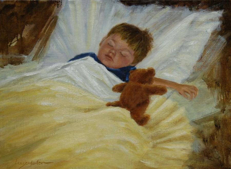 """THE SLEEPING PRINCE"" original fine art by Dj Lanzendorfer"