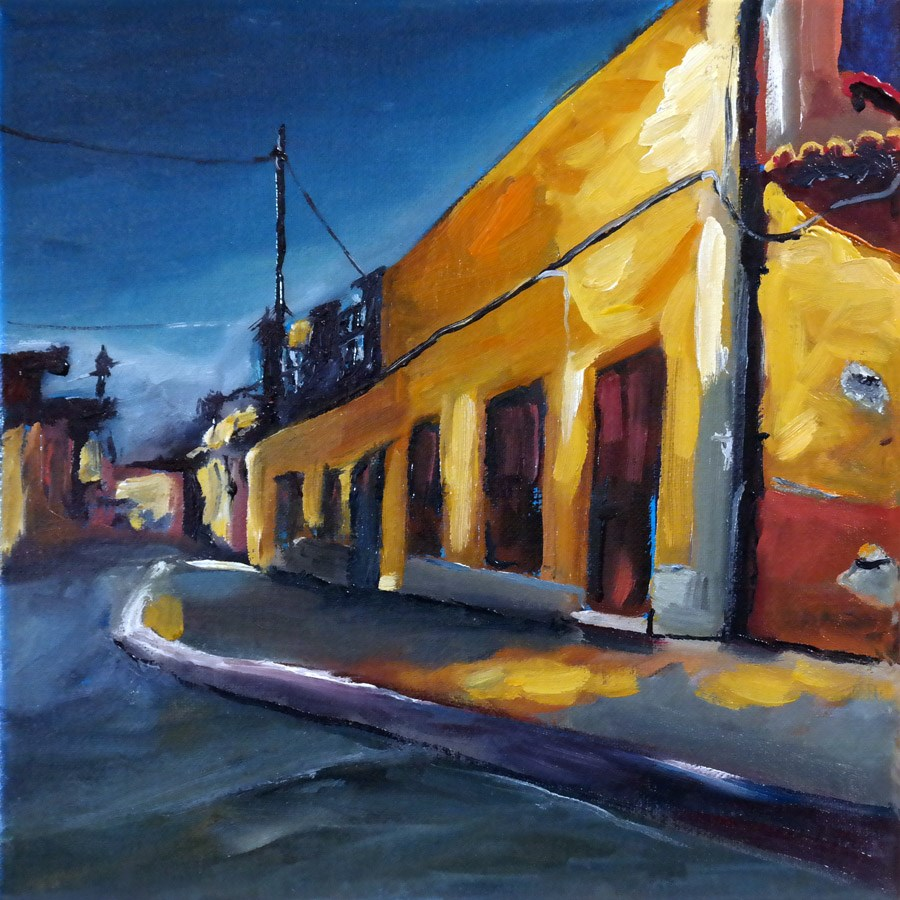 """0837 Calle in Los Llanos"" original fine art by Dietmar Stiller"